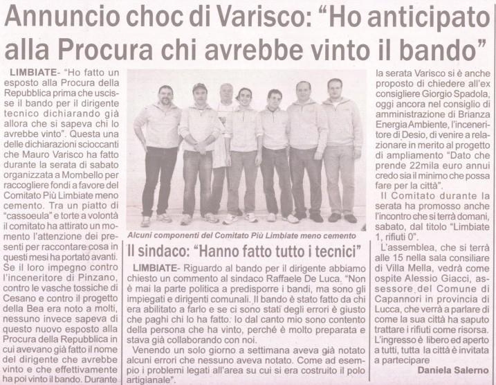 Notiziario - 30 novembre 2012