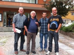 La nostra delegazione con il neo Assessore  di Senago Luca Palazzolo