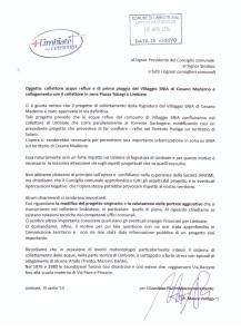 Lettera protocollata in data 10 aprile 2014