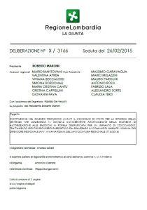 Deliberazione n. X/3166 del 26/02/2015 Giunta Regione Lombardia (Clicca sull'immagine per il PDF completo)