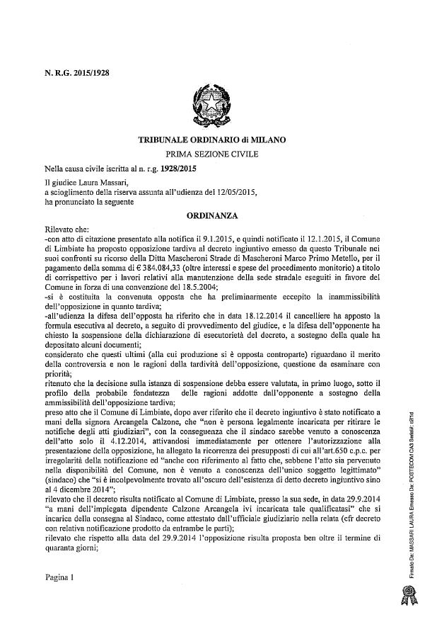 Ordinanza Mascheroni