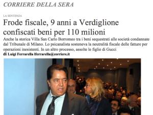 Corriere della Sera - Clicca sull'immagine per il PDF